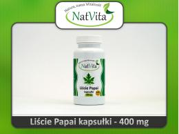Kapsułki liście papai mielone, PAPAJA - cena sklep