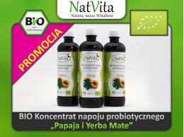 Bio Probiotyk Koncentrat napoju probiotycznego - odmiana z owocami papai i Yerba Mate papja