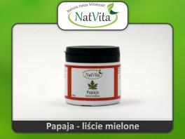 Liście papai proszek - cena sklep herbata Papaina sproszkowane, PAPAJA