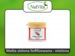 Małża zielona Nowozelandzka - cena sklep - liofilizowana na stawy i kości ekstrakt wyciąg Perna canaliculus