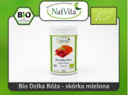 Dzika róża skórka proszek BIO - cena sklep mielona witamina c