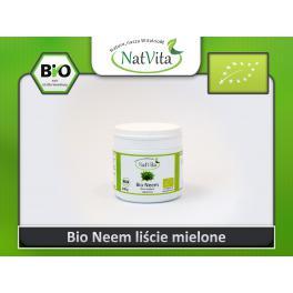 Neem liście mielone BIO Miodla indyjska w proszku puder - cena sklep