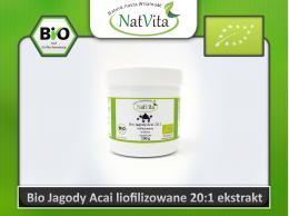 Jagody Acai ekstrakt / wyciąg liofilizowane 20:1 jagody BIO - cena sklep proszek Berry kwas elagowy Orac