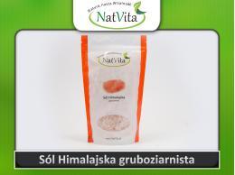 Sól Himalajska granulat różowa niejodowana krystaliczna gruba - cena sklep