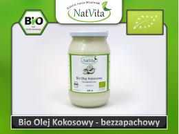 Olej Kokosowy BIO bezzapachowy cena sklep