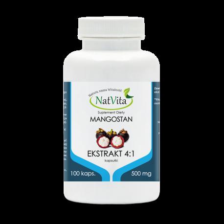 Mangostan owoc ekstrakt 4:1 kapsułki 500mg