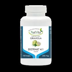 Graviola owoc ekstrakt 4:1 kapsułki 250 mg