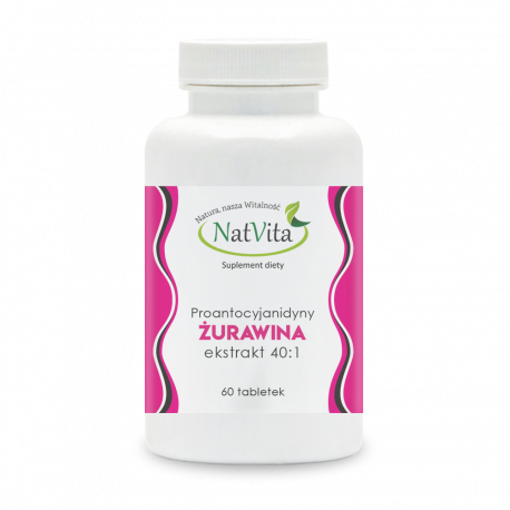 Żurawina ekstrakt 40:1 tabletki