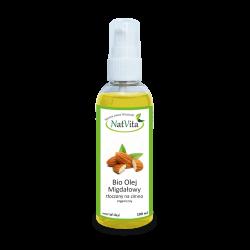Olej Migdałowy Bio tłoczony na zimno cena sklep zimnotłoczony certyfikat Prunus amygdalus dulcis organiczny