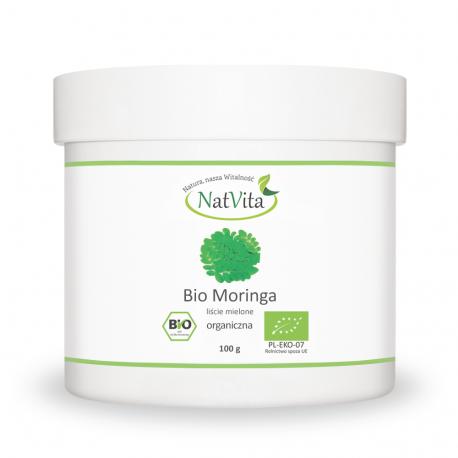 Moringa liście mielone BIO sproszkowane - cena sklep moringa olejodajna