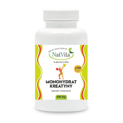 Monohydrat Kreatyny 600 mg/100 kapsułek