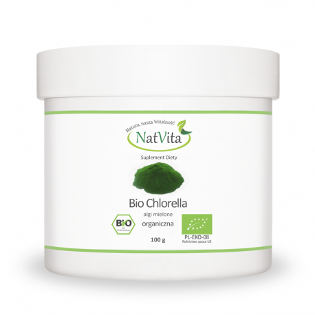 Chlorella proszek BIO pyrenoidosa - cena sklep glony dawkowanie