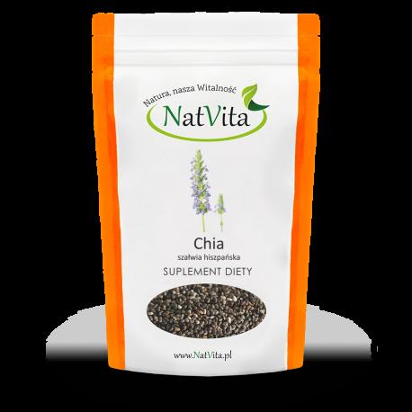 Nasiona Chia szałwia hiszpańska - cena sklep błonnik Omega 3 i 6 ziarno