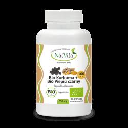 Bio Kurkuma + Bio Pieprz czarny kapsułki celulozowe cena sklep
